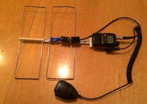 Foto der 70cm Moxon Antenne