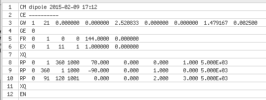 Fortran Input Karten