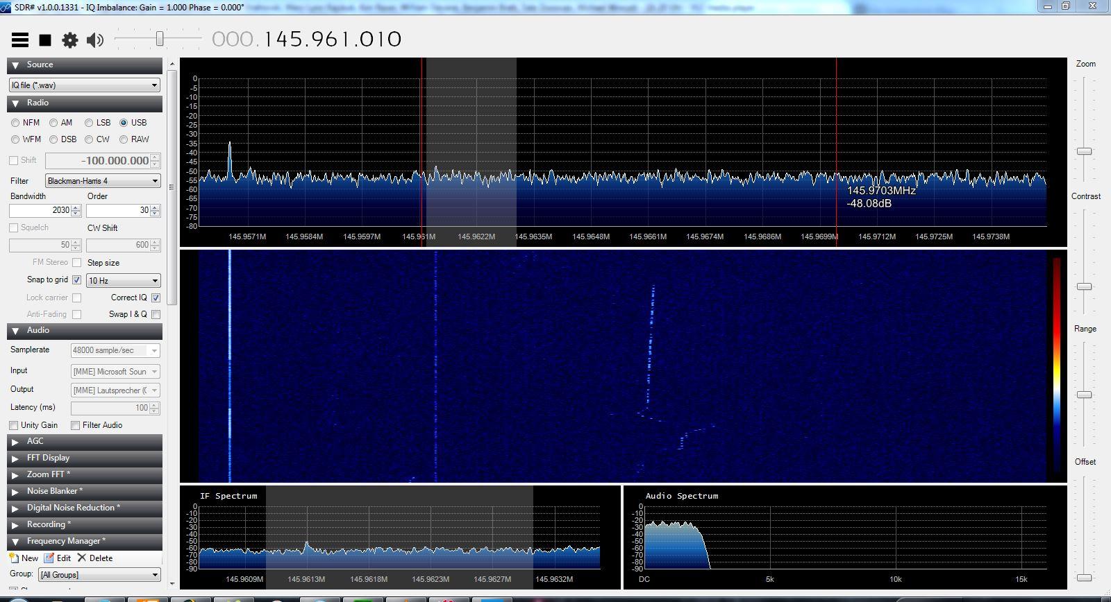 CW Signal über den Lineartransponder von Funcube-1 gesendet