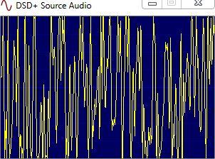 Audio Anzeige von DSDplus, hier ist gerade nur Rauschen