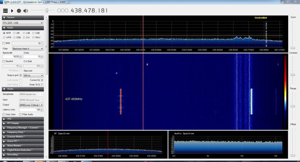 DF0MOT auf 438,200 MHz.