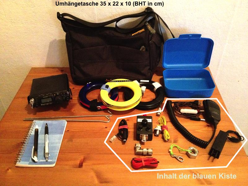Tasche mit Funkequipment
