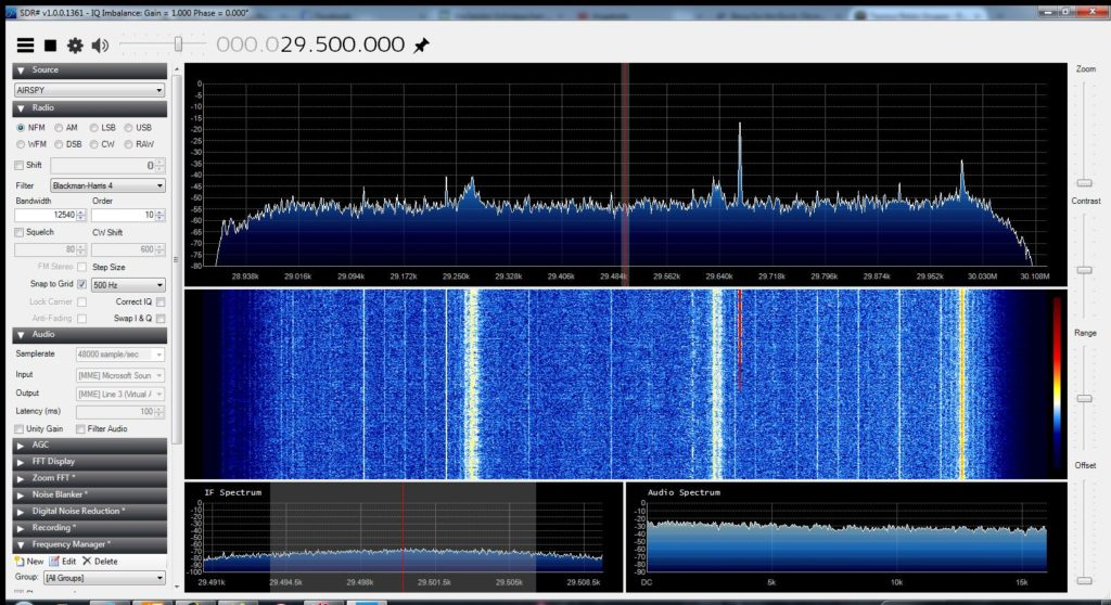Airspy auf 10m, DF0MOT bei 29,670 MHz