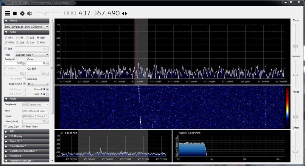 Empfang der CW-Bake von Horyu-2, bei einer Sendeleistung von 1 Watt!